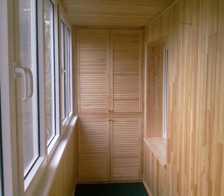 Отделка балкона вагонкой дизайн